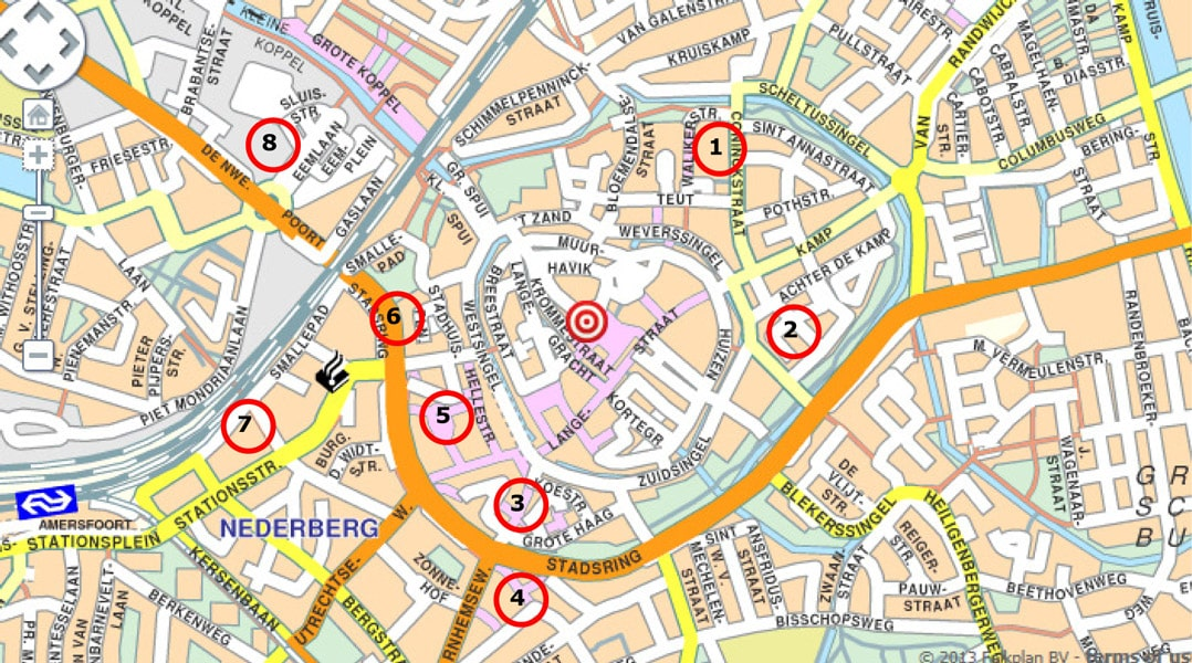 Parkeerlocaties Sint-Joriskerk Amersfoort